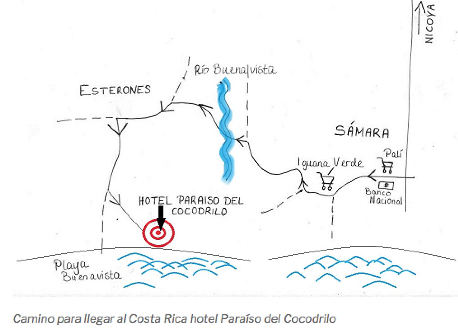 Anfahrt zum Hotel Paraiso del Cocodrilo, Costa Rica