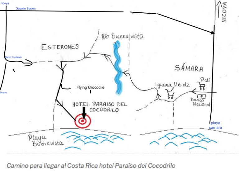 Directions to the Costa Rica hotel, how to get here