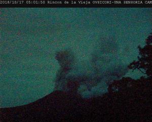 Vulkan Rincon de la Vieja ausgebrochen